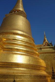 Temple, Thailand, Gold, Wat, Buddha, Buddhism, Asia