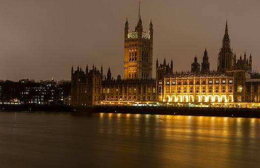 London Skyline, Thames, Houses Of Parliament
