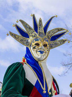 Venice, Costume, Mask, Feather, Hat