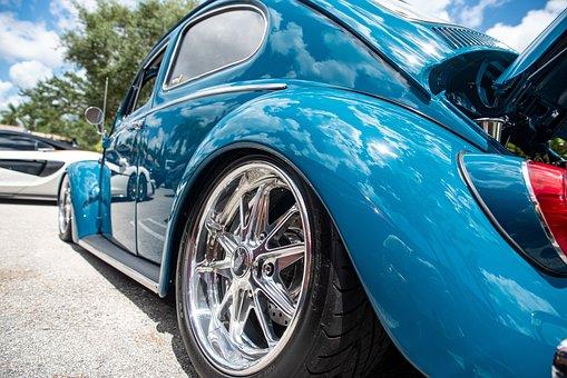 Vw Beetle, Vintage Car, Car, Volkswagen