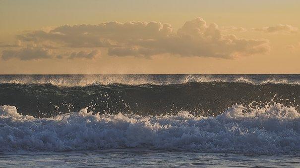 Sea, Waves, Horizon, Beach, Nature