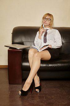 Business, Girl, Office Style, Office, Macbook, Work