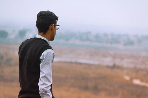 Alone, Standing, Person, Nature, Sad