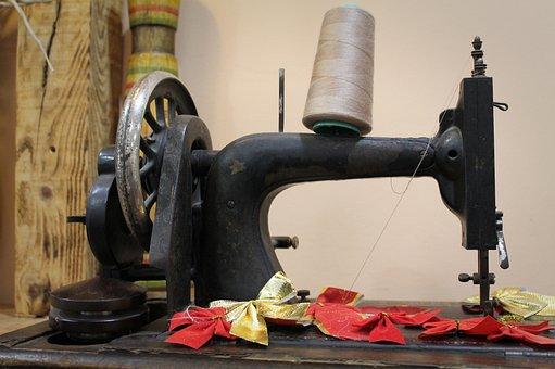 Sewing, Old Equipment, Retro, Vintage, Antique, Craft