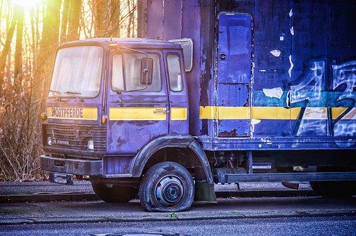 Wheel, Mature, Truck, Breakdown