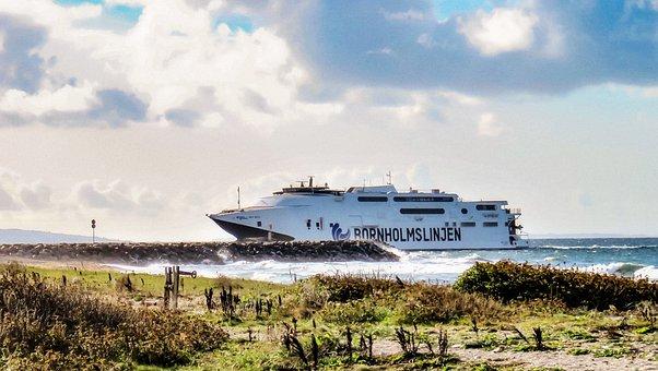 Ferry, Car Ferry, Baltic Sea, Denmark, Connection