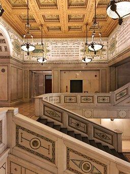 Chicago, Cultural Center, Architecture, Round, Mosaics