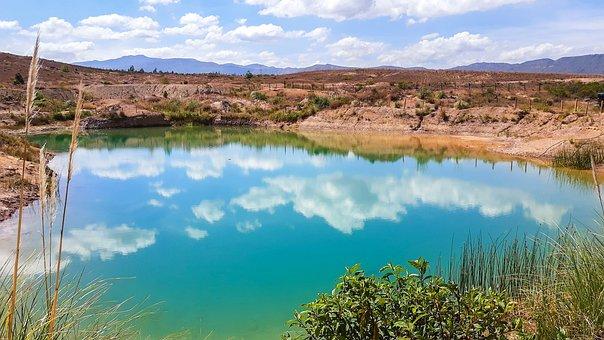 Lake, Well, Blue Wells, Boyacá, Colombia, Mountains