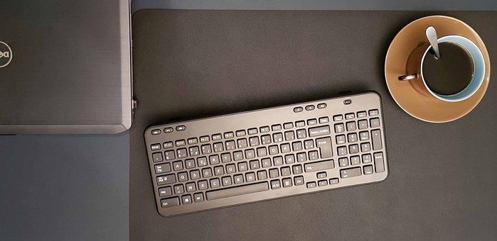 Desktop, Computer, Office, Keyboard