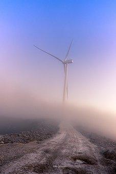 Wind Generators, Sun, Energy, Sky, Wind