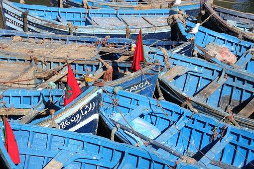 Morocco, Essaouira, Fishing, Boat