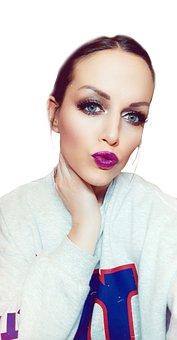 Purple, Makeup, Make Up, Brown, Eyes, Beauty, Portrait