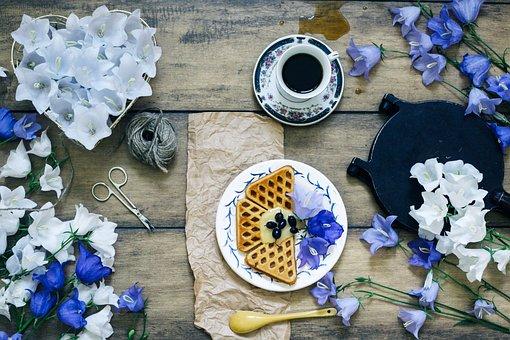 Instagram, Flat Lay, Morning, Cookies