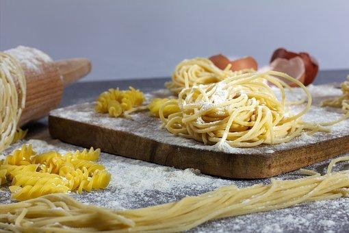 Homemade, Pasta, Eat, Italian, Food, Raw, Flour, Tasty