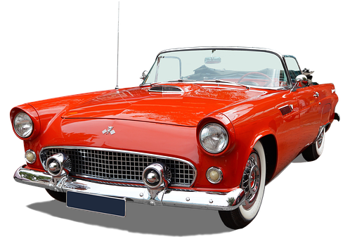 Ford, Oldtimer, Us Car, Convertible