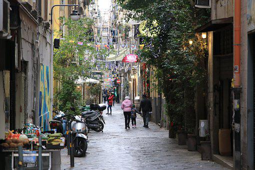 Naples, Italy, Old City, Historic Quarter, Street