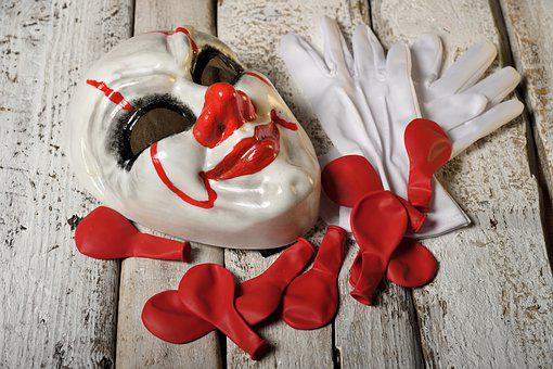 Red, White, Love, Celebration, Holiday, Mask, Gloves