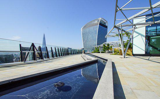 London, City, Rooftop, Garden, Großbritanien, Green