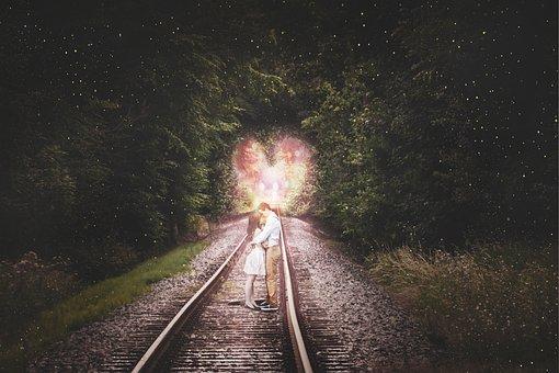 Valentine, Love, Couple, Vias, Landscape, Magic