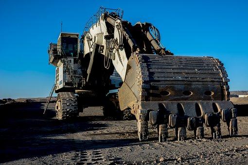 Mine Technique, Excavator, Industry, Heavy, Vehicle