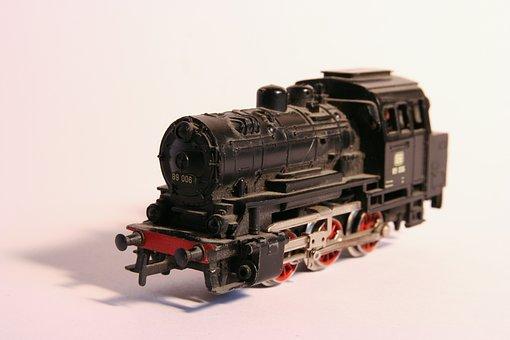 Train, Miniature, Model, Locomotive, Toys