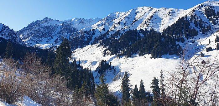 Mountain, Almaty, Kazakhstan, Panorama