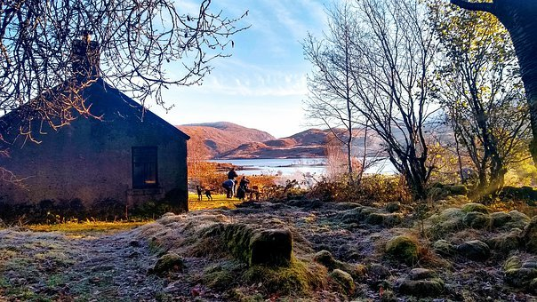 Bothy, Scotland, Mountains, Hills