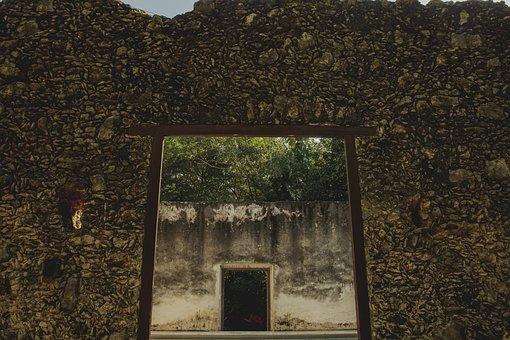 Wall, Stone, Door Frame, Door, Old, Texture