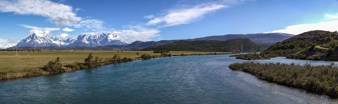 Rio Serrano, Paine Massif, Paine, Torres Del Paine
