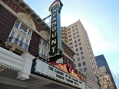 Paramount, Theater, Austin, Theatre, Buildings, Sign
