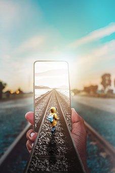 Phone, Railroad, Smartphone, Child, Hand