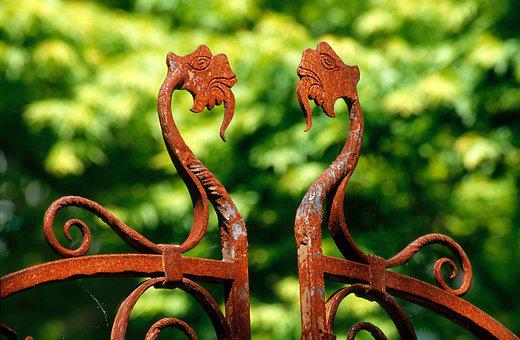 Iron Gate, Rusted Gate, Rust, Weathered, Rusted, Rustic