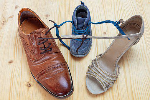 Shoes, Connected, Shoe Strap, Shoelace, Knotted