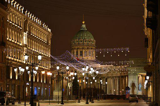 Spb, Cathedral, Street, Showplace