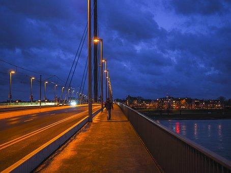 Architecture, Bridge, Night Photograph, River, Water