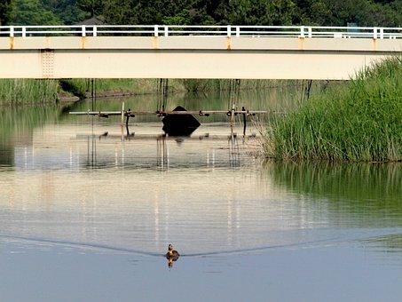Natural, Landscape, Building, Bridge, River, Water