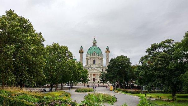 Church, Karlskirche, Wien, Austria, Vienna, Karlsplatz