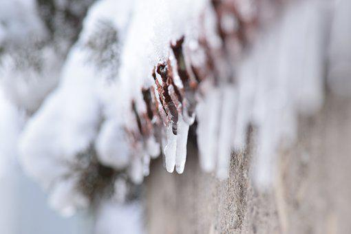 Winter, Frozen, Icicles, Page, White