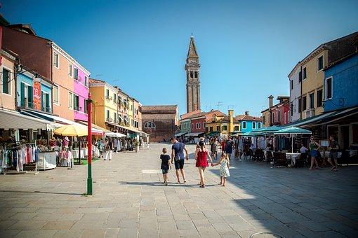 Burano, Italy, Venice, Architecture, Water, Buildings