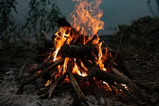 Camp Fire, Wood, Camp, Burn, Outdoor