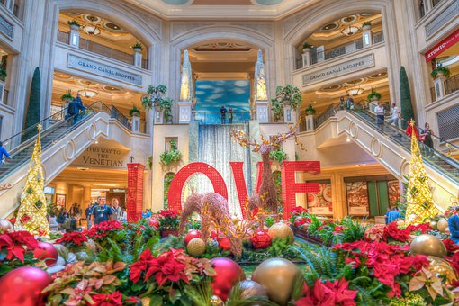 Las Vegas, Christmas, Decorations, Casino, Nevada