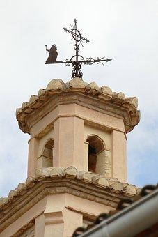 Tower, Clock, Belfry, Wind Vane