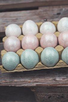 Easter Eggs, Decoration, Egg, Sparkle, Colorful