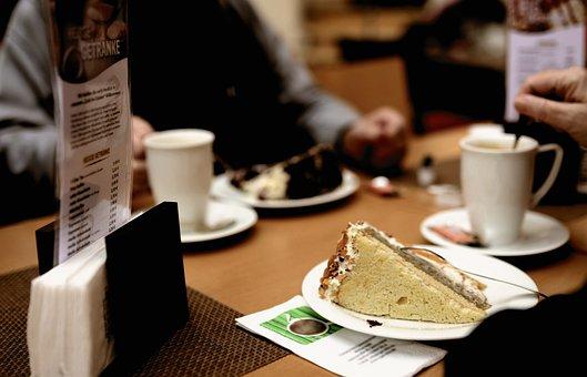 Cafe, Drink Coffee, Seniors, Restaurant, Food, Coffee