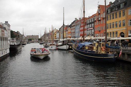 Nyhavn, Copenhagen, Denmark, Landmark, Canal, Tourism