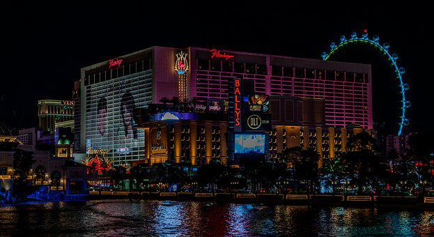 Las Vegas, Bellagio, Lights, Night