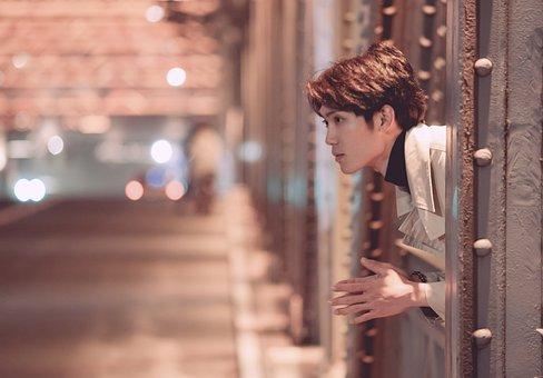 Bridge, Man, Young, Model, Thinking