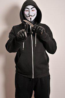Criminal, Mask, Leather Gloves, Anonymous
