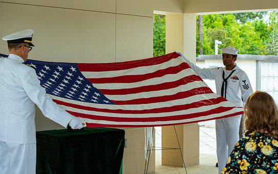 Us Flag, Navy Burial, Ceremony, Funeral, Navy, Honor