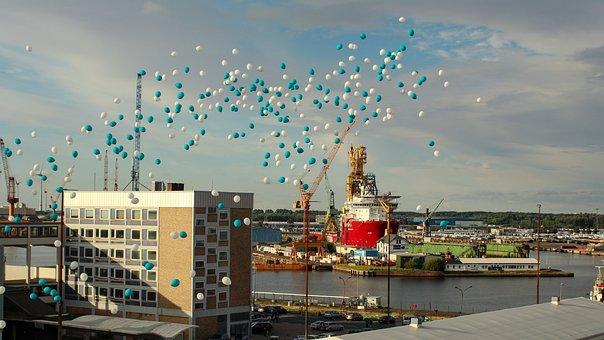 Bremerhaven, North Sea, Weser, Port, Weser Estuary